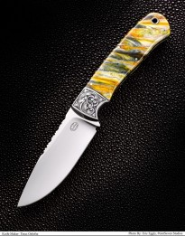 Engraved Fixed Blade With Mammoth Molar